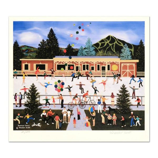 """Jane Wooster Scott, """"Summer Cheer"""" Hand Signed Limited Edition Lithograph with Letter of Authenticit"""