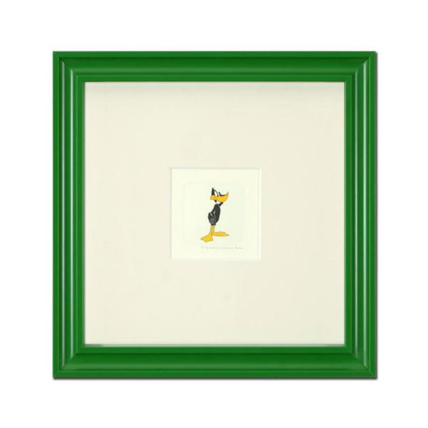 """""""Daffy Duck (Looking to the Side)"""" Framed Limited Edition Etching with Hand-Tinted Color and Numbere"""