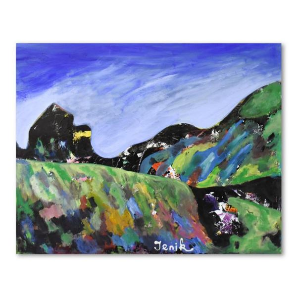 """Jenik Cook, Original Acrylic Painting on Gallery Wrapped Canvas (40"""" x 32""""), Hand Singed with Letter"""