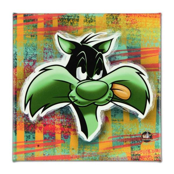 """Looney Tunes, """"Sylvester"""" Numbered Limited Edition on Canvas with COA. This piece comes Gallery Wrap"""