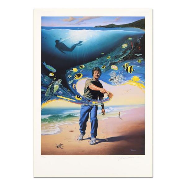 """Wyland and Jim Warren, """"Another Day At the Office"""" Limited Edition Lithograph, Numbered and Hand Sig"""