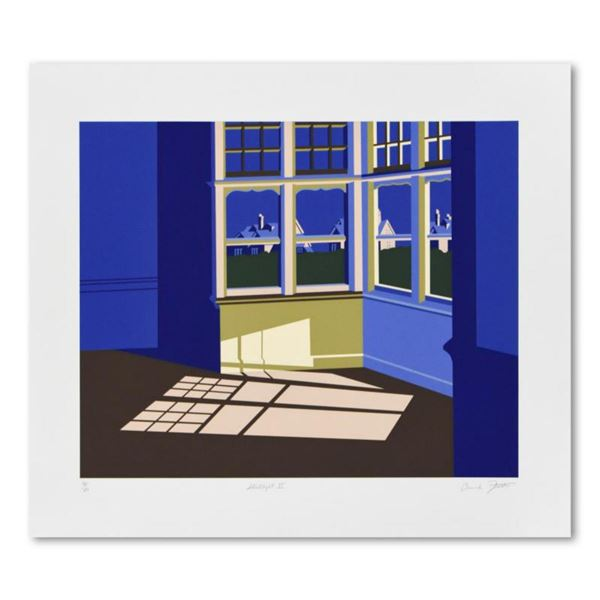 """Armond Fields (1930-2008), """"Streetlight II"""" Limited Edition Hand Pulled Original Serigraph, Numbered"""