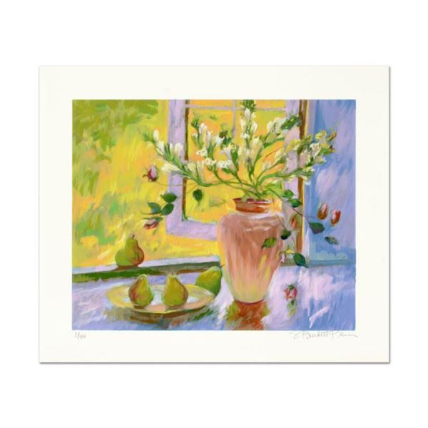 """S. Burkett Kaiser, """"Still Life with Pears"""" Limited Edition, Numbered and Hand Signed with Letter of"""