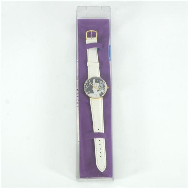 """Vintage Peter Max """"Profile"""" Watch with Original Packaging and Paperwork."""