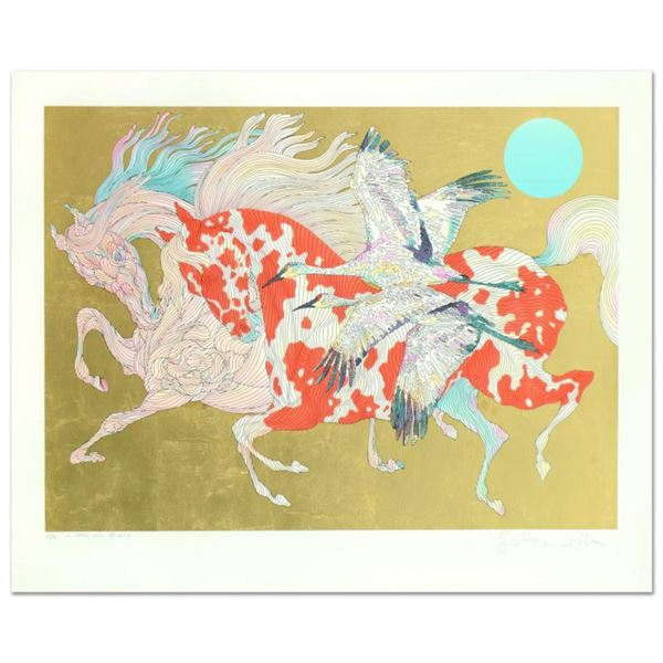 """Guillaume Azoulay, """"It Takes Two"""" Limited Edition Serigraph with Hand Laid Gold Leaf, Numbered and H"""