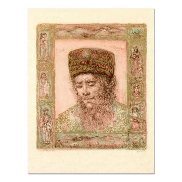 """Edna Hibel (1917-2014), """"Solomon"""" Limited Edition Lithograph on Rice Paper, Numbered and Hand Signed"""