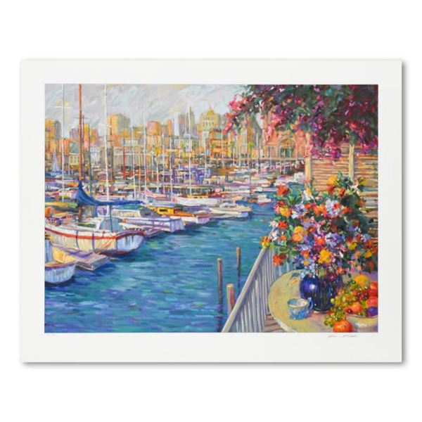 """Henri Plisson, """"Mediterranean Sunrise"""" Limited Edition Serigraph, Numbered and Hand Signed with Lett"""