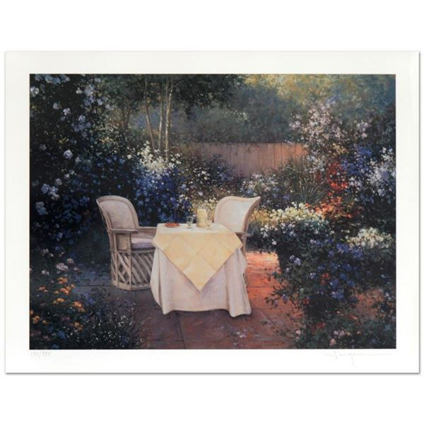 """Sergon, """"Garden Pleasures"""" Limited Edition Giclee, Numbered and Hand Signed by the Artist; LOA."""