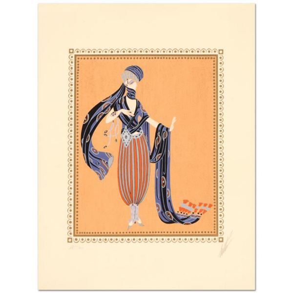 """Erte (1892-1990), """"Calyph's Concubine"""" Limited Edition Serigraph, Numbered and Hand Signed with Cert"""