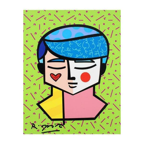 """Romero Britto """"Grant"""" Hand Signed Limited Edition Giclee on Canvas; Authenticated"""