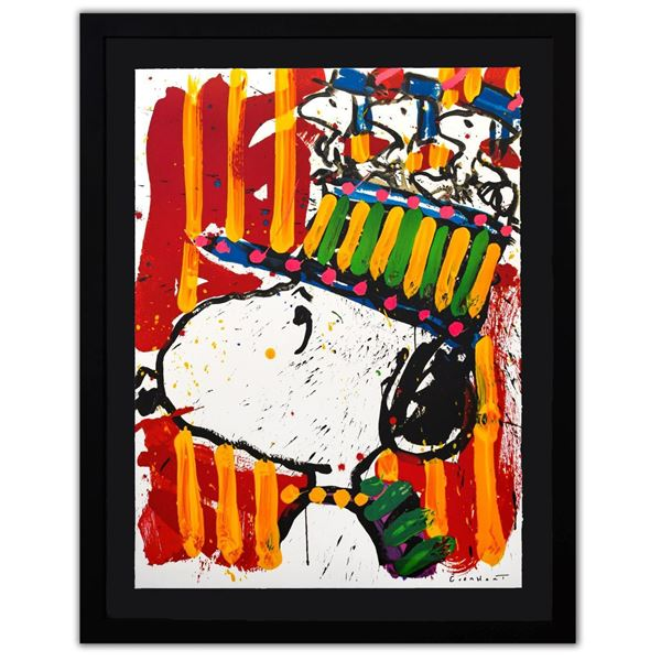"""Tom Everhart- Hand Pulled Original Lithograph """"Why I don't Wear Hats"""""""