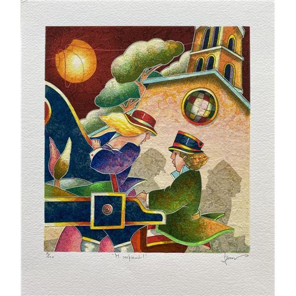 "Francesco Nesi- Original Serigraph on Paper ""MI SORPRENDI"""