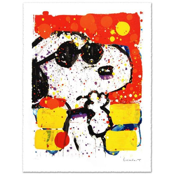 """Tom Everhart- Hand Pulled Original Lithograph """"Cool and Intelligent"""""""