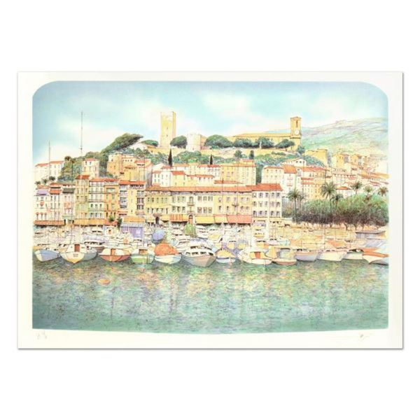"""Rolf Rafflewski, """"Cannes"""" Limited Edition Lithograph, Numbered and Hand Signed."""