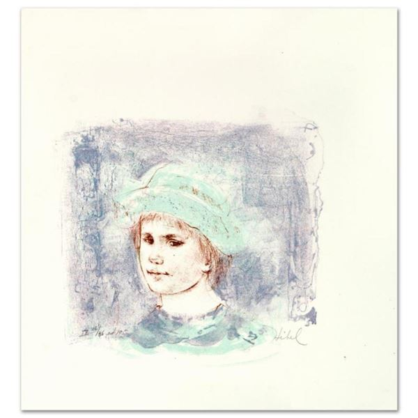 """""""Alberto"""" Limited Edition Lithograph by Edna Hibel (1917-2014), Numbered and Hand Signed with Certif"""