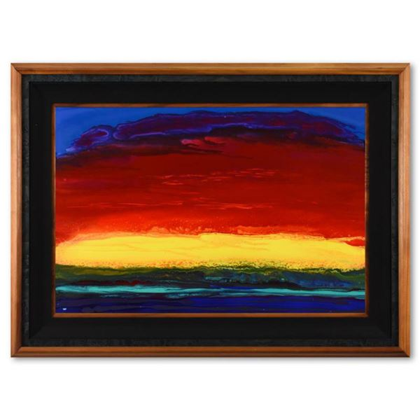 """Wyland, """"Lahaina Sunset"""" Framed Original Acrylic Painting on Board, Hand Signed with Letter of Authe"""