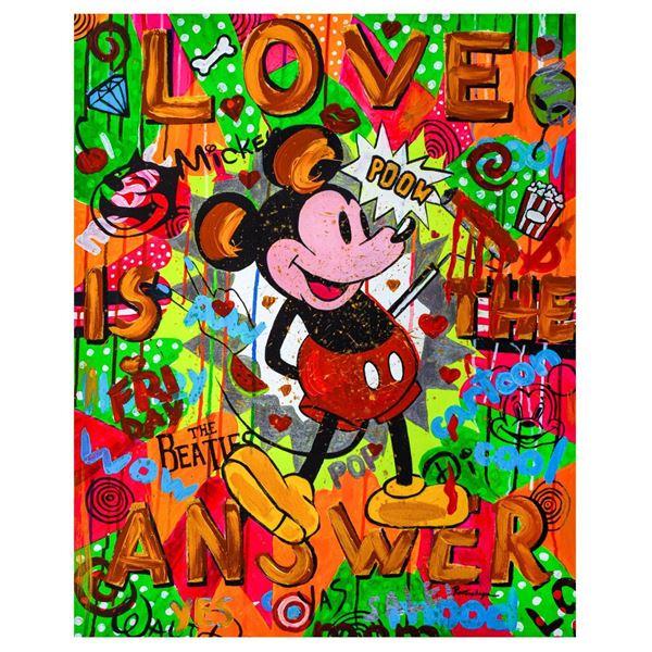 """Nastya Rovenskaya- Mixed Media """"The Answer is Love"""""""