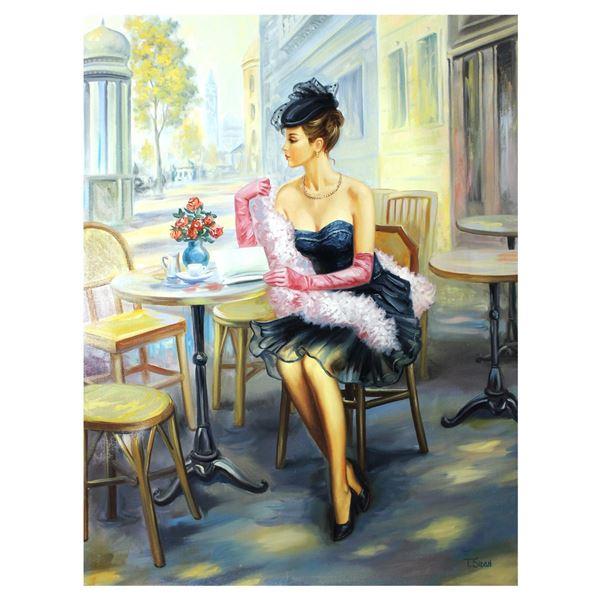 "Taras Sidan- Original Giclee on Canvas ""Magenta"""