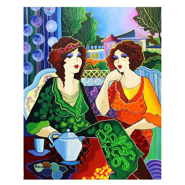 "Patricia Govezensky- Original Acrylic on Canvas ""Lina & Emmeline"""