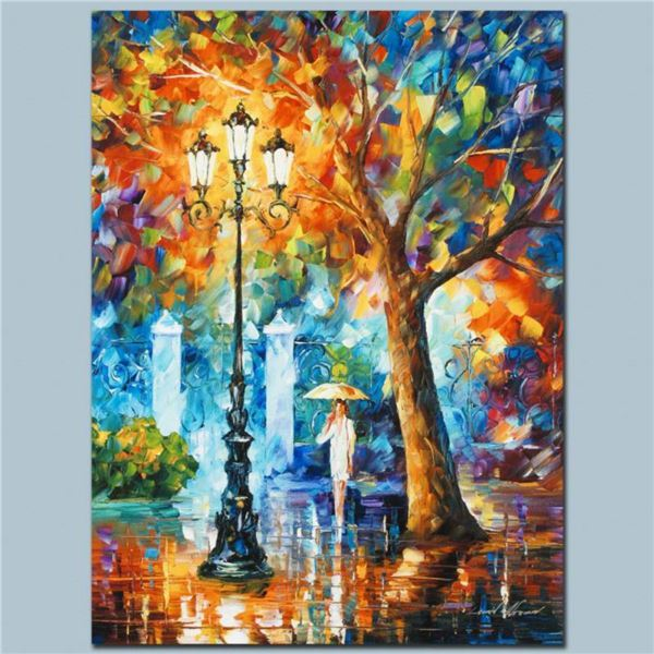 """Leonid Afremov (1955-2019) """"Night Aura"""" Limited Edition Giclee on Canvas, Numbered and Signed. This"""