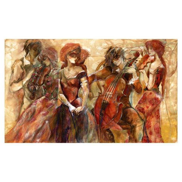 """Lena Sotskova, """"Apassionato"""" Hand Signed, Artist Embellished Limited Edition Giclee on Canvas with C"""