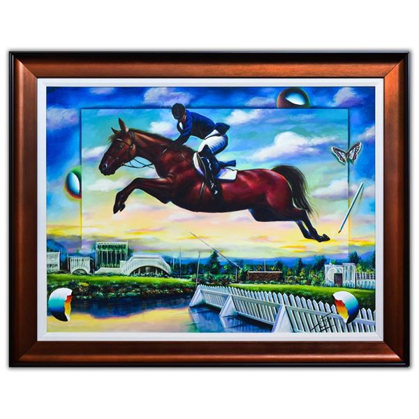 """Ferjo- Original Oil on Canvas """"Flying Free"""""""