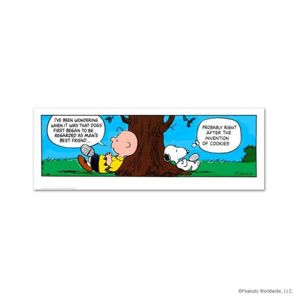 """Peanuts, """"Invention of Cookies"""" Hand Numbered Limited Edition Fine Art Print with Certificate of Aut"""