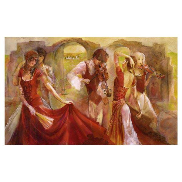 "Lena Sotskova, ""Midsummer Dream"" Hand Signed, Artist Embellished Limited Edition Giclee on Canvas wi"