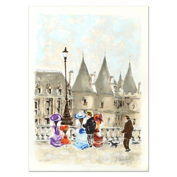 """Urbain Huchet, """"Towers"""" Limited Edition Lithograph, Numbered and Hand Signed."""