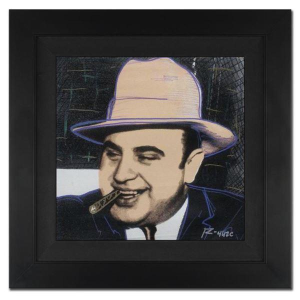 "Ringo 4u2c - (Protege of Andy Warhol's Apprentice - Steve Kaufman), ""Al Capone, Crooked Smile"" Frame"