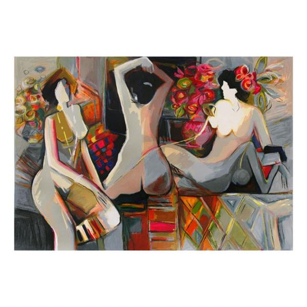 """Isaac Maimon, """"Nude Reflections"""" Limited Edition Serigraph, Numbered and Hand Signed with Letter of"""
