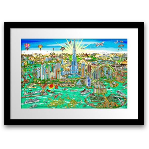 "Charles Fazzino- 3D Construction Silkscreen Serigraph ""THE WONDERS OF DUBAI"""