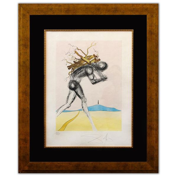 """Salvador Dali- Original Lithograph """"Issachar (From Twelve Tribes of Israel Suite)"""""""