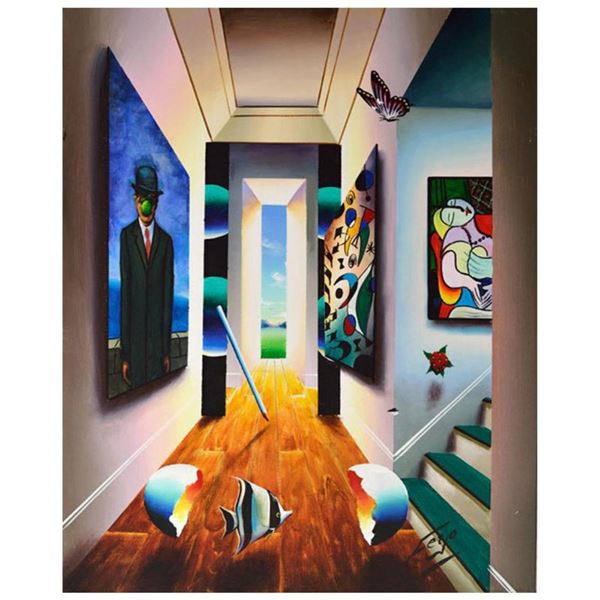 """Ferjo, """"Delights in the Hall"""" Original Painting on Canvas, Hand Signed with Letter of Authenticity."""