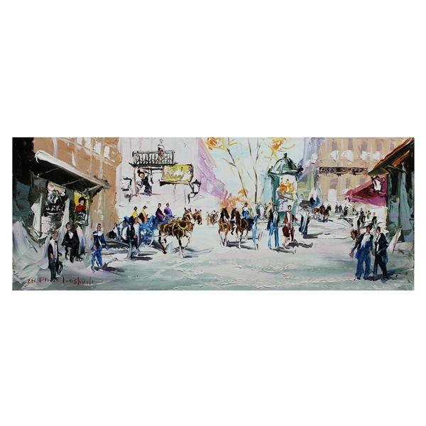 "Shalva Phachoshvili- Original Oil on Canvas ""After The Snow"""