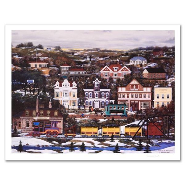 """Jane Wooster Scott, """"Pride of Pennsylvania"""" Hand Signed Limited Edition Lithograph with Letter of Au"""