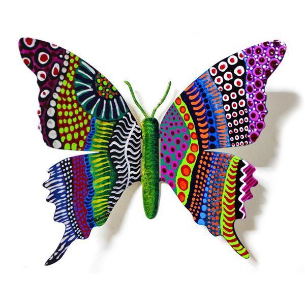 "Patricia Govezensky- Original Painting on Cutout Steel ""Butterfly CXXXVII"""
