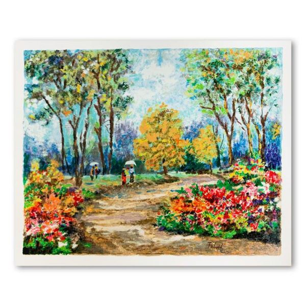 """Dimitri Polak (1922-2008), """"In the Park"""" Limited Edition Serigraph, Numbered and Hand Signed with Le"""