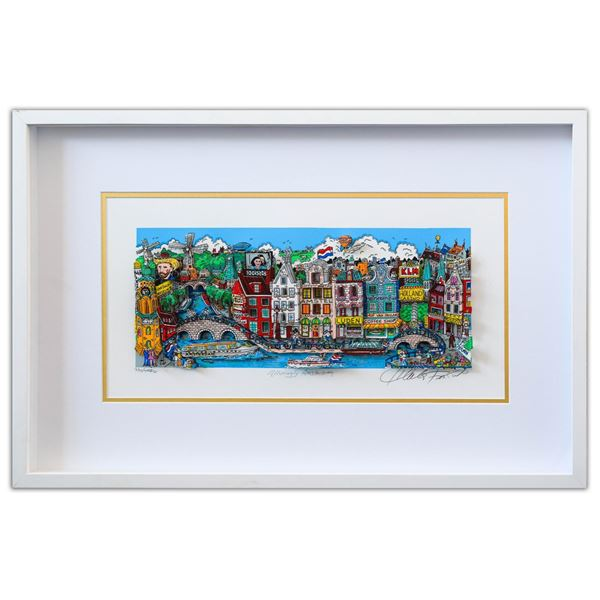"Charles Fazzino- 3D Construction Silkscreen Serigraph ""Alluringly Amsterdam"""