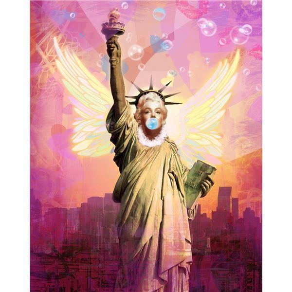 """Mark Braver- Original Mixed Media """"Liberty"""""""