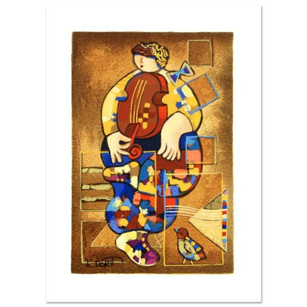 """Dorit Levi, """"Merry Violin"""" Limited Edition Serigraph, Numbered and Hand Signed with Certificate of A"""