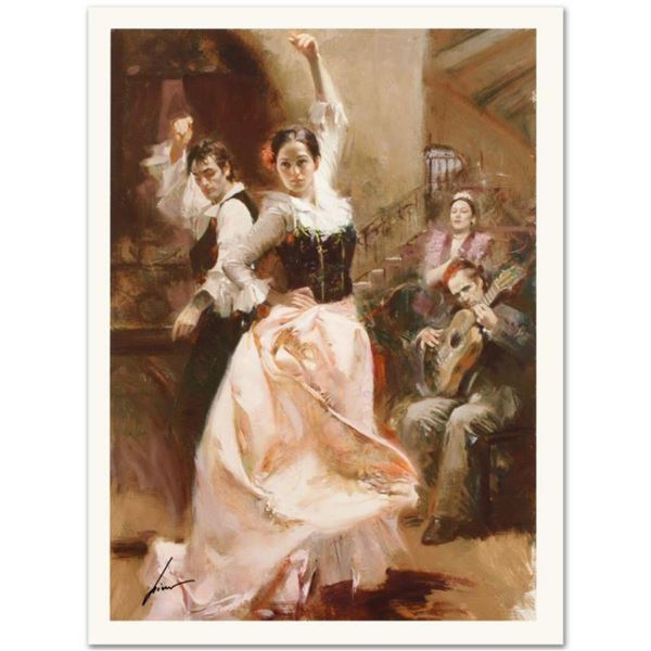 """Pino (1931-2010), """"Dancing In Barcelona"""" Limited Edition on Canvas, Numbered and Hand Signed with Ce"""