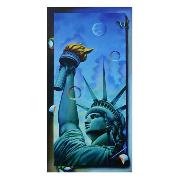 """Ferjo, """"Standing Tall"""" Limited Edition on Canvas, Numbered and Signed with Letter of Authenticity."""