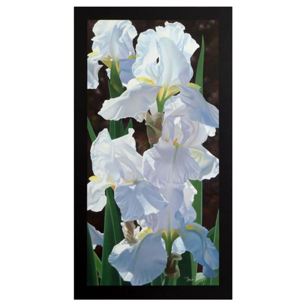 """Brian Davis, """"Enchanting Irises"""" Limited Edition Giclee on Canvas (18"""" x 36""""), Numbered and Hand Sig"""