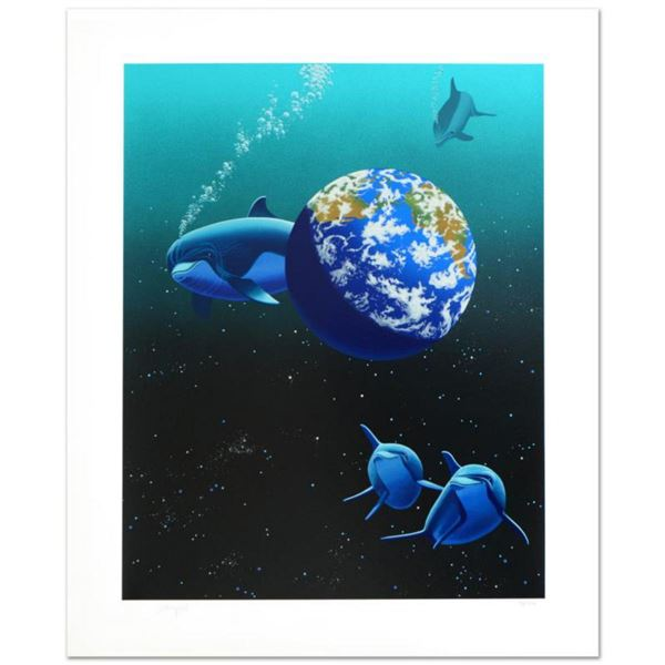 """""""Our Home Too II (Dolphin)"""" Limited Edition Serigraph by William Schimmel, Numbered and Hand Signed"""