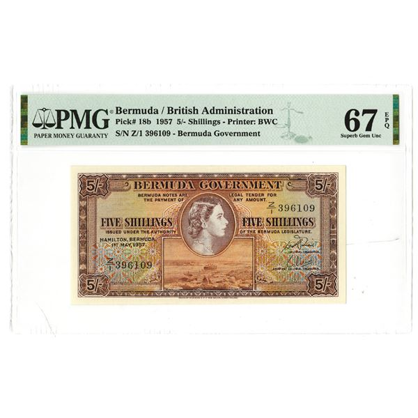 Bermuda Government, 1957 Issue Possibly a Replacement Banknote.