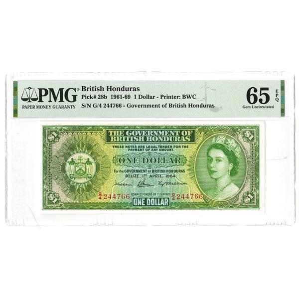 Government of British Honduras. 1964 Issue Banknote.