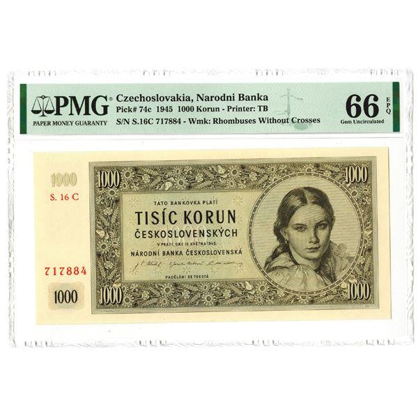 Narodni Banka. 1945. High Grade Issued Note.