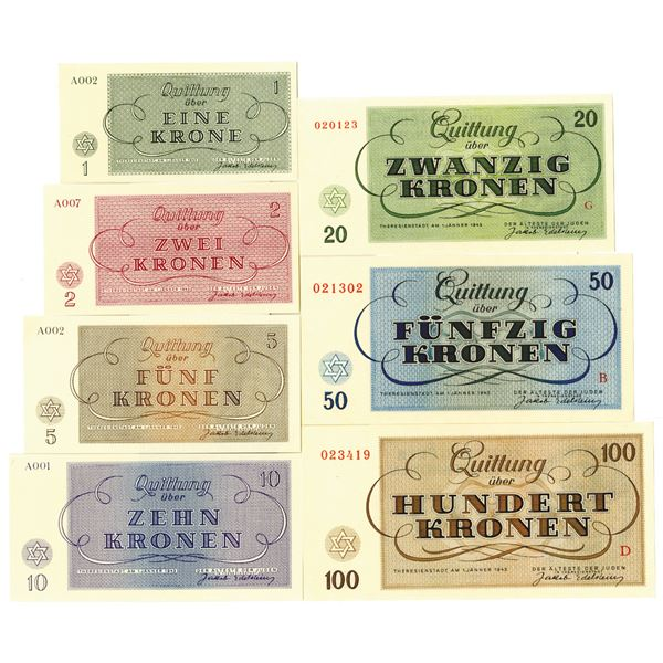 Theresienstadt Concentration Camp Currency Set, 1943