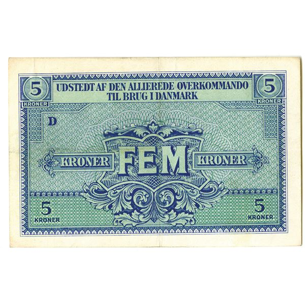 WWII Allied Command in Denmark, 1945 Issued Note